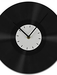 """11.8 """"estilo moderno w tudo goma preta mãos negras relógio de parede"""
