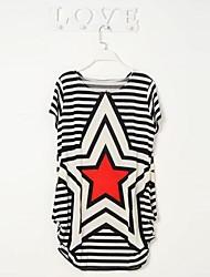 impressão pentagrama stripe vestido solto das mulheres (trajeto aleatório)