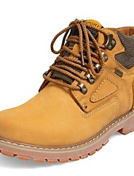 Men's Shoes Casual/Outdoor Leather Boots Brown/Yellow