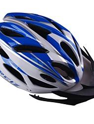 eps + pc azul y blanco integralmente moldeado del casco en bicicleta con 23 orificios de ventilación