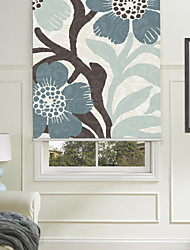 Painting Style Five-petaled Flowers Roller Shade