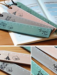 padrão marco carimbo do vintage régua de madeira (cor aleatória)