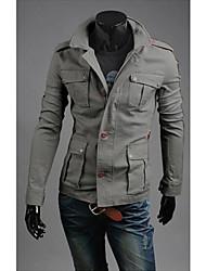 colar de lapela jaqueta de couro fivela feitiço dos homens
