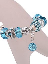 Blue Shambhala Beads Charm Bracelet