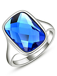 RIM Simple Austria Crystal Alloy Blue Diamonade Ring