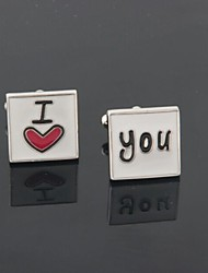 "Groom/Groomsman ""I Love You"" Brass Cufflinks"
