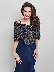 Fur Wraps Shrugs Faux Fur Black Party/Evening / Office & Career