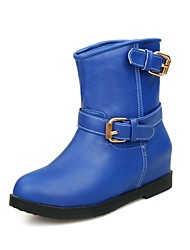 Women's Shoes Motorcycle Boots Chunky Heel Patent Leather Ankle Boots More Colors available