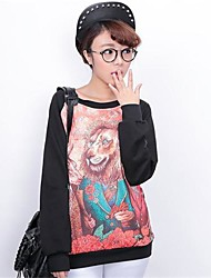 Women's Cartoon Print Long Sleeve Blouse T-Shirts
