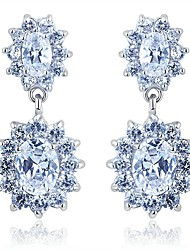 Goshi Women's Elegant Zircon Earrings