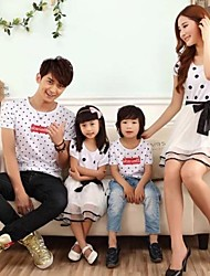 Short Sleeve Cotton Blend/Polyester Family Clothing Sets , Summer/Spring/Fall Dress/Tee