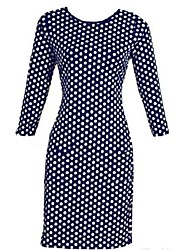 Women's Plus Sizes Polka Dot Bodycon Dress