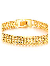 Bijoux frais dominateur or de 18 K classique superbe garçons Bracelet Texture