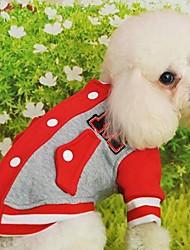 T-shirt für Hunde Rot / Schwarz / Blau / Rosa / Gelb Winter XS / S / M / L / XL Baumwolle
