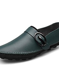 Men's Shoes Casual Leather Loafers Black/Blue/Brown/Green/Red