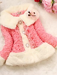 ragazze pelliccia di inverno con cappotti in pizzo (più colori)