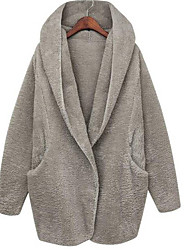 Falari Women's Loose Thickening Warm Waisted Coat