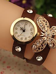 amo diamonade mariposa watch_brown vendimia