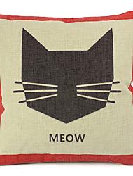 pays coton de chat / lin taie d'oreiller décoratif