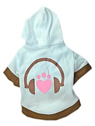 Cute Music Style with Hoodie Cotton T-Shirt for Pets Dogs(Assorted Size)