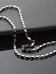 Men's Fashion Solid Titanium Steel Chain Necklace