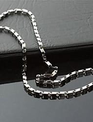 мода твердого титана стали ожерелья цепи мужские