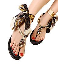 Ruihan Western Roman Bowknot Cowhells Base Sexy Thong Sandal
