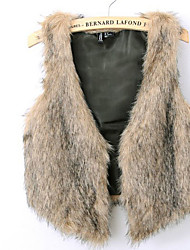 b&b europese grote tuin faux fur vest