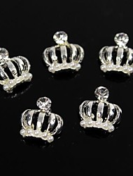 10pcs Pearl Queen's Holy Crown Glitter Rhinestone 3D Alloy Nail Art Decoration