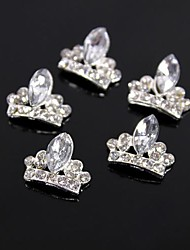 10pcs brillo corona grande de diamantes de imitación de cristal uñas aleación 3d decoración del arte