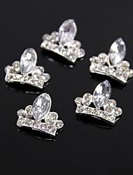 10pcs glitter crown grande strass cristal 3d liga nail art decoração