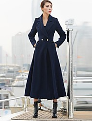 couverture lana blu navy tweed trench midi delle donne