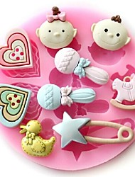 Baby Duck Microphone Shaped Baking Fondant Cake Chocolate Candy Mold,L9.1cm*W9.1cm*H1cm