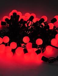 marsing® noël 5m décoratif 8w 50 flash LED festival des modes balle partie bande de lumière rouge - (AC110-220V)
