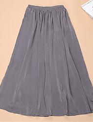 Topro Women's Floor Length Long Skirt Summer Casual Vestidos Pleated Skirt