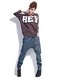 Women's Blue/Gray Loose/Harem Pants , Casual/Plus Sizes