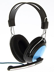 QINGSHENG QS-561 3.5mm Stereo On-Ear Headphone with Mic and Remote for PC