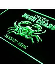 J313 restaurant crabes bleus bar de fruits de mer nouveau signe de lumière