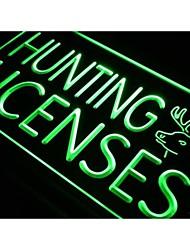 j669 Hunting Licenses Hunt Deer Neon Light Sign