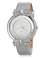 Women's Rolling Beads Round Dial PU Band Quartz Analog Casual Watch (Assorted Colors)