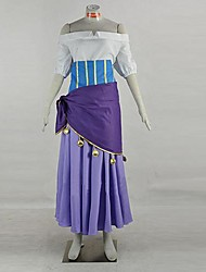Cosplay Costumes Super Heroes Movie Cosplay Purple Patchwork Top / Dress / Apron / Belt Halloween / Christmas / New Year Female Polyester