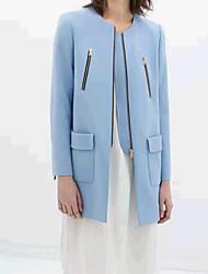 Яйцо женщин синий MIDI образец пальто