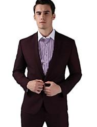 vestido de negócios da moda noivo luxo blazer sólida dos homens se adapte magro um botão set jacket + pants