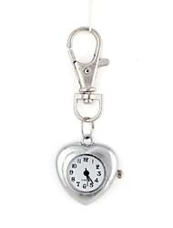 la mode en forme de coeur pendentif en métal de femmes diamant artificiel montre sac de porte-clés (1pc)