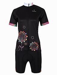 ILPALADINO Camisa com Shorts para Ciclismo Mulheres Manga Curta Moto Respirável Secagem Rápida Bolso TraseiroCamisa + Shorts Conjuntos de