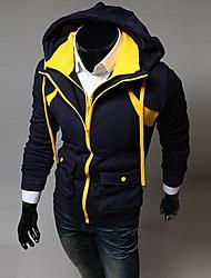 capuche mode contraste de la couleur de lesen hommes faux deux pièces à capuche décontracté o