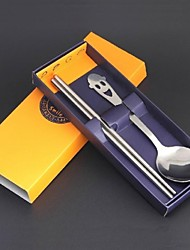Portable Stainless Steel Tableware Spoon Chopsticks Combination