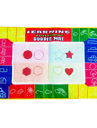 74 * 50 * 2cm Aquadoodle colorido magia para niños con 2 bolígrafos novedad juega educativos (2 bolígrafos)