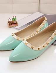 LIANGMEIYUE Women's Shoes Pointed Toe Casual Flats with Rivet Shoes More Colors available