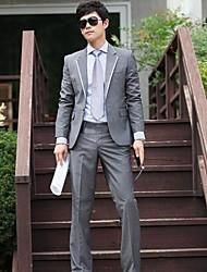 Men's Long Sleeve Regular Set , Cotton Blend Pure